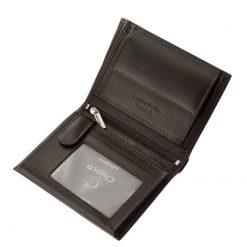 Minőségi valódi bőrből készült, exkluzív megjelenésű irattartó bőr pénztárca férfiak számára, mely fekete és barna színben érhető el.