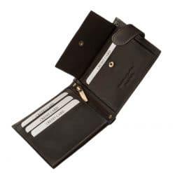 Corvo Bianco jelzésű, finom tapintású, minőségi igazi bőr férfi pénztárca, amelynek használata rendkívül kényelmes és praktikus.