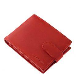 Minőségi, valódi marha bőr felhasználásával készült ez az új női pénztárca modellünk stílusos piros színben. Igazán praktikus belsővel.