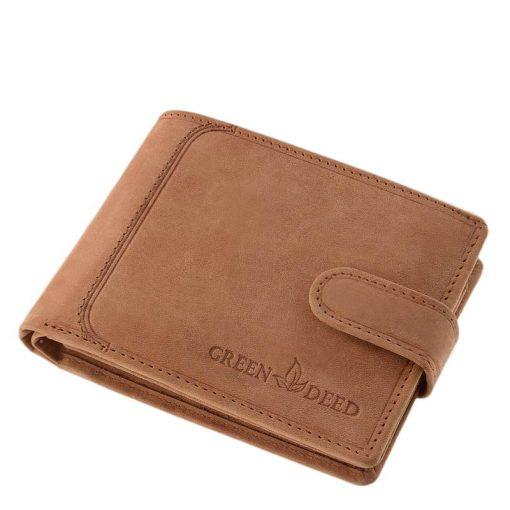 Valódi és minőségi bőr alapanyagú férfi pénztárca, mely díszdobozos csomagolásban érkezik a kedves vásárlóhoz. Külső átkapcsoló pánttal!